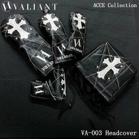 シェリフの姉妹ブランド!ヴァリアント VA-003 アクセコレクション DR/FW/UT/IR/PT用 ヘッドカバー ブラック VALIANT ACCE Collection