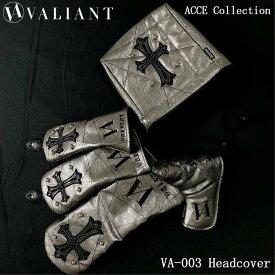 シェリフの姉妹ブランド!ヴァリアント VA-003 アクセコレクション DR/FW/UT/IR/PT用 ヘッドカバー メタルブラウン VALIANT ACCE Collection