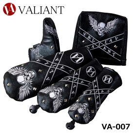 【2021モデル】シェリフの姉妹ブランド!ヴァリアント VA-007 Wing Skull DR/FW/UT/IR/PT用 ヘッドカバー VALIANT バリアント 髑髏 スカル 数量限定