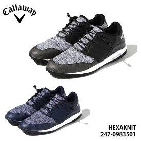 キャロウェイ 247-0983501 ヘクサニット スパイクレス ゴルフシューズ メンズ Callaway HEXAKNIT MENS 010 120