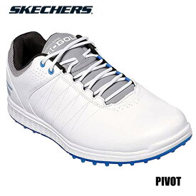 【2019モデル】スケッチャーズ 54545 ピボット ゴルフシューズ ホワイト×グレー×ブルー 日本正規品 SKECHERS PIVOT