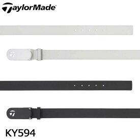 テーラーメイド KY594 メタルT レザー ベルト TaylorMade