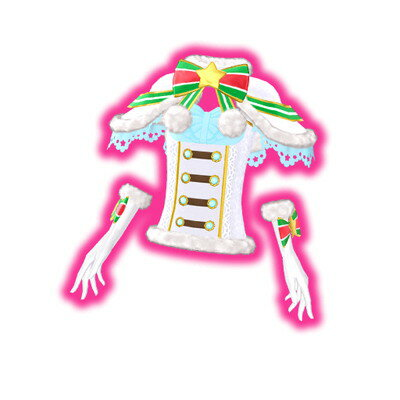 キラッとプリ☆チャン/PCH5-59 クリスマスサンタホワイトトップス SR
