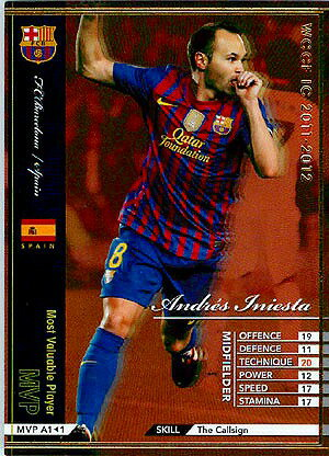 WCCF/11-12/MVP A1/バルセロナ/アンドレス・イニエスタ