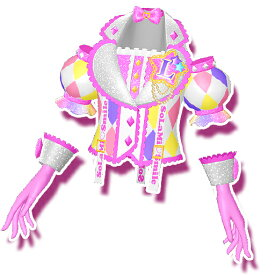 プリパラ【マイチケ】神1弾 ★1-022 ダイヤチェックスウィートトップス SR