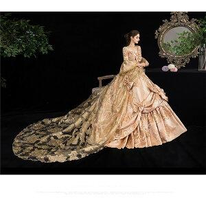 貴族衣装王族服カラードレス貴族ドレスステージ衣装としても最適お姫様ドレス中世貴族風しりもちドレス新劇演出現代劇演出ヨーロッパ風結婚式演出服パーティードレスサイズ指定パニエ追加可d9274c0