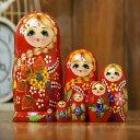 マトリョーシカ ロシア 人形 民芸品 土産物 手作り人形 手描き オブジェ 7個組20cm インテリア雑貨 洋風 ギフト プレ…