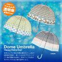 3色展開 デザイン 透明傘 バードケージ型 雨傘 SPICE スパイス HHLG71 ビニール 傘 アンブレラ パラソル Happy Clear …