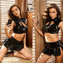 レディース セクシー コスプレ エナメル ボンデージドレス コスチューム ボンテージ 衣装 女王様 コスプレ キャット…
