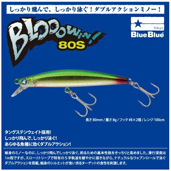 【ルアー】BlueBlue ブルーブルーBlooowin 80S ブローウィン 80Sシンキング ミノー