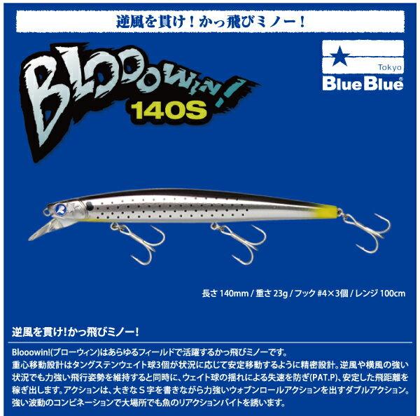 【ルアー】BlueBlue ブルーブルーBlooowin 140S ブローウィン 140Sシンキング ミノー