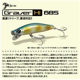 【ルアー】Ja-do 邪道Graver Hi 68S グラバーハイスピード 68S一般カラーシンキングミノー