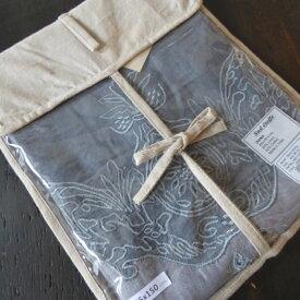 フランス プロヴァンス ロールアップカーテン DIANA 刺繍 コットンリネン 45×150cm