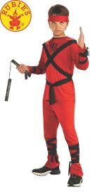 送料無料 ハロウィンコスチューム ルービーズ 赤い忍者 子供コスチューム Rubies Red Ninja Lサイズ 身長142〜152cm 変装グッズ コスプレ衣装 コスプレ Hallween キッズコスチューム チャイルドコスチューム