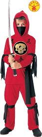 送料無料 ハロウィンコスチューム ルービーズ 赤い忍者 子供コスチューム Rubies Red Ninja Lサイズ 身長142〜152cm 変装グッズ コスプレ衣装 コスプレ Hallween キッズコスチューム チャイルドコスチューム hween_d19