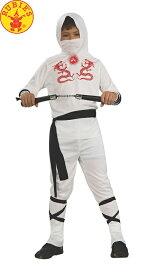 送料無料 ハロウィンコスチューム ルービーズ 白い忍者 子供コスチューム Rubie`s Ninja Lサイズ 身長142〜152cm 変装グッズ コスプレ衣装 コスプレ Hallween キッズコスチューム チャイルドコスチューム ハロウィン 衣装 子供