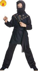 送料無料 ハロウィンコスチューム ルービーズ 黒い忍者子供コスチューム Rubies Ninja Lサイズ 身長142〜152cm 変装グッズ コスプレ衣装 コスプレ Hallween キッズコスチューム チャイルドコスチューム hween_d19