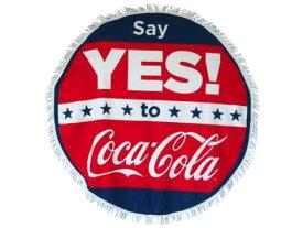 【本日限定ポイント5倍】コカ・コーラ ラウンドタオル YES coca021/COCACOLA / コカコーラ ビーチタオル /ロゴ/インテリア/マット【 コカコーラ 】
