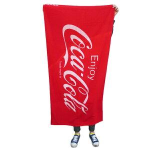 【7/30限定クーポン利用で100円OFF】【Coca Cola】コカ・コーラビーチタオル 75 x 150cm コットン100% 綿 大判 バスタオル レッド 正規品 コカ・コーラロゴ アメリカン雑貨