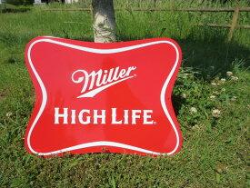 【 エンボスメタルサイン 】MILLER SOFT CROSS (ミラー ビール クロス)【 ガレージ看板 メタルサイン アメ雑 アメリカン雑貨 ガレージ 】