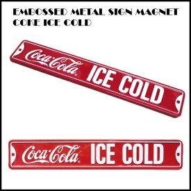エンボスメタルサインマグネット COKE ICE COLD COCA COLA コカコラー雑貨 コカコーラグッズ アメ雑貨  MAGNET