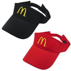 McDonald's SUN VISOR【マクドナルド サン バイザー】二色チョイス【ブラック/レッド】マクドナルドのオフィシャルグッズ