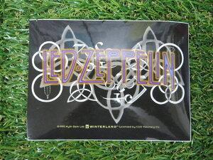 【 ステッカー 】 ステッカー レッド・ツェッペリン ロゴ / バンド紫文字【 LED ZEPPELIN 】