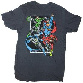 【本日限定ポイント5倍】Tシャツ 87T-M JUSTICE LEAGUE ジャスティスリーグ メンズM メンズM USサイズ メンズ半袖Tシャツ メンズ夏Tシャツ アメカジ カジュアルTシャツ DCコミック アメキャラ—Tシャツ ブラック