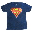 TシャツT342-SスーパーマンtシャツSUPERMANDRIPLOGOメンズSUSサイズ半袖TシャツT-SHIRTロゴtシャツアメリカ輸入メンズTシャツアメキャラクターキャラクターグッズ正規品