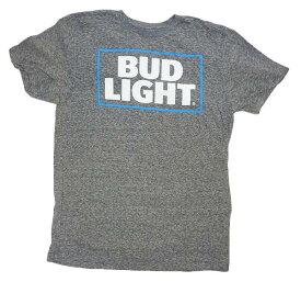 BUD LIGHT Tシャツ T262-M グレー メイズM/US M SIZE ビールメーカーBUDWEISERオフィシャルライセンスTシャツ バドワイザーTシャツ バドワイザーグッズ メンズ半袖Tシャツ アメカジ