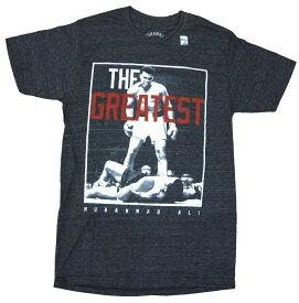 MUHAMMAD ALI Tシャツ T317-S ブラック アメリカメンズSサイズ モハメド・アリtシャツ プロボクサーtシャツ WBA・WBCー級チャンピオンtシャツ アリtシャツ メンズ半袖tシャツ uネック
