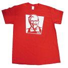 KFCofficialTシャツT274-MレッドアメリカメンズMSIZEケンタッキーフライドチキン正式ライセンスTシャツケンタッキーTシャツメンズ半袖TシャツUネック半袖コットンロゴ印刷プリントアメカジカジュアルアメリカン赤シンプルかっこいい