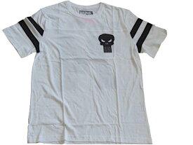 Tシャツ MARVEL 176T-M マーベルTシャツ CASTLE74 PUNISHER パニッシャー USメンズMサイズ アメキャラ—Tシャツ ホワイトTシャツ メンズ半袖Tシャツ UネックTシャツ 両面印刷Tシャツ ゴ