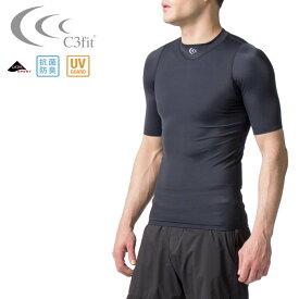 c3fit(シースリーフィット) メンズ パフォーマンススリーブ (シャツ ラグビー スポーツ インナー コンプレッション UVカット トレーニング) 3FM001602R