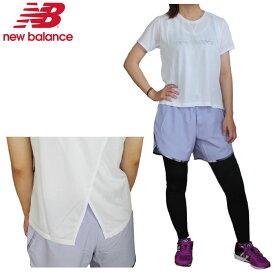 【あす楽対応】ニューバランス(New Balance)レディース ランニング3点セット(Tシャツ ショートパンツ タイツ トレーニングウェア スポーツ)AWT9306Y-WS93828-WP91880
