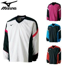 ミズノ(mizuno)ウィンドブレーカーシャツ(メンズ レディース ウインドブレーカー シャツ 長袖 ブレーカー テニス ソフトテニス 運動 スポーツ トレーニング)62JE7001