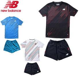 【あす楽対応】ニューバランス(New Balance)HANZO ランニングセット(メンズ Tシャツ ショートパンツ セットアップ ランニング 陸上 駅伝 5インチ ハンゾー)AMT01200-AMS01208