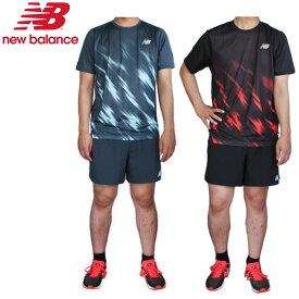 【あす楽対応】ニューバランス(New Balance)メンズ ランニングセット(Tシャツ ショートパンツ ランニング 上下セット 5インチ インナー付き ハンゾー)AMT01200-AMS01203