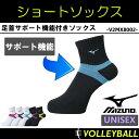 ミズノ(MIZUNO) ショート ソックス (バレーボール レディース メンズ ウィメンズ 女性 靴下 くつした バレー) V2MX8002