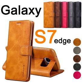 スマホケース Galaxy S7 edgeケース 財布型 Galaxy S7 edge 横開き Galaxy S7 edge手帳型スマホケースケース シンプル ビジネス ギャラクシーS7 エッジ 人気 スマホケース Galaxy S7 edge保護 ギャラクシーS7 エッジケース SC-02H SCV33ケース カード入れ
