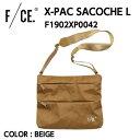 【F/CE. エフシーイー】X-PAC SACOCHE L Xパック サコッシュ L BEIGE 軽量 防水 耐久性 F1902XP0042