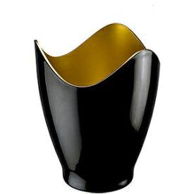 ワインクーラー シャンパンクーラー おしゃれ ブラック 黒 ゴールド 高級感 スタイリッシュ 日本酒クーラー かっこいい 1本用 2948【p-up】