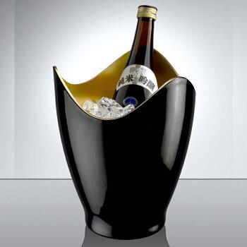 ワインクーラー冷酒クーラー1本用黒金アクリルかっこいい