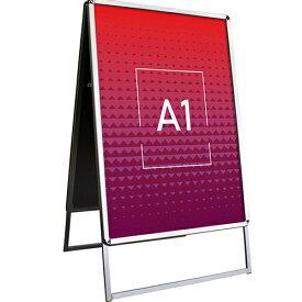 A型看板 [A1] 【看板】両面 ポスター 屋外 立て看板 スタンド看板 A看板 店舗用看板 アルミ製 スナップフレーム