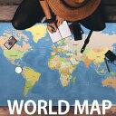 大判世界地図ポスター World Map 英語表記 600x1070 Mサイズ インテリア オフィス・店舗に