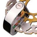 バイク用ディスクロック 盗難防止アラーム付き 防水防塵仕様 メッキ仕上げ 専用バック付き DF200