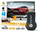 HDMIドングルレシーバー スマホの映像を大画面で Wifi ワイヤレス ミラーリング 1080P 無線 iPhone Android M…