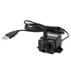 汎用ミニ水中ポンプ USB駆動 水槽 小型ブラシレスポンプ 静音設計 流量120L/h 最大揚程0.5m 省電力仕様 ミニウォーターポンプ USB噴水ポンプ 水槽内の循環 PAD500USB