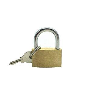 鍵付き南京錠 汎用タイプ 鍵で施錠 スーツケース荷物 ロッカールーム 倉庫、小屋、ツールボックス 防犯に 南京錠 鍵2本付き 銅南京錠 丈夫 耐久性 LOCK29MM