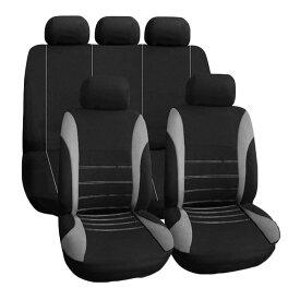 車用シートカバー 9点セット 全席用 通気性 耐用性 汎用 5席車に 運転席 助手席 後部座席 シートを汚れから守る TIROL2162